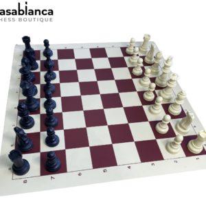 Casablanca Chess High Standard Vinyl Chess Set (en Tube)